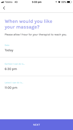 Massage At Home - Start Time Extended