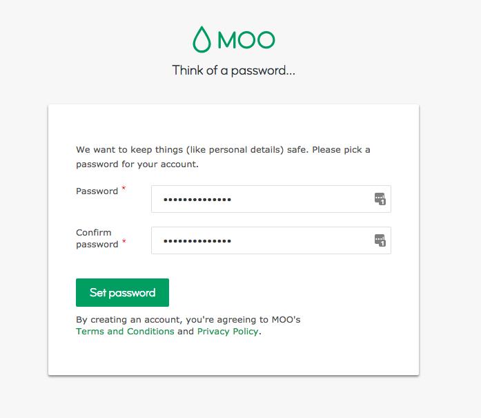 MOO password creation