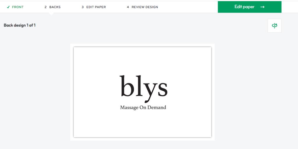 Blys business cards