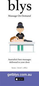 Blys on-demand massage banner