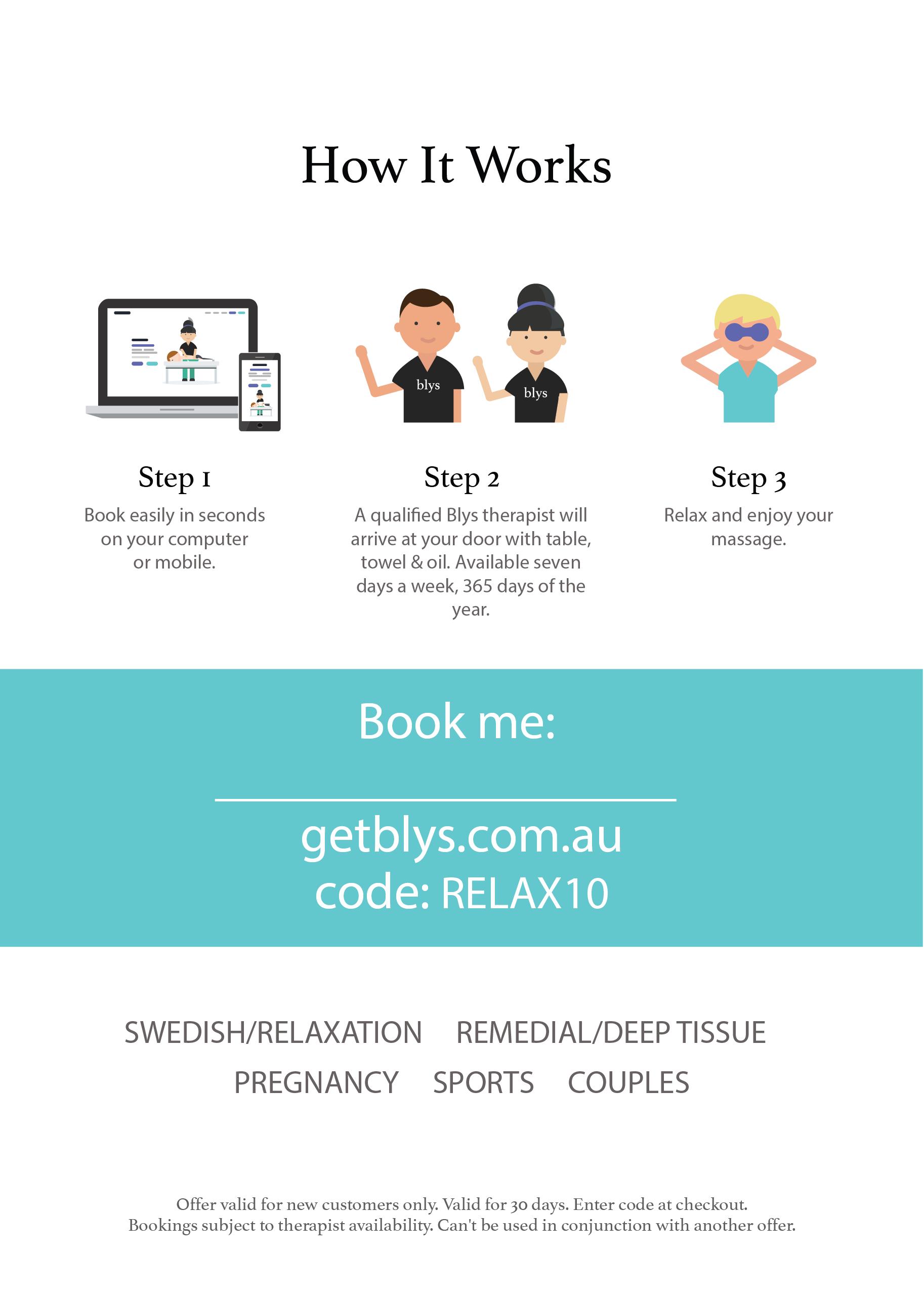 therapist promotional flyer back