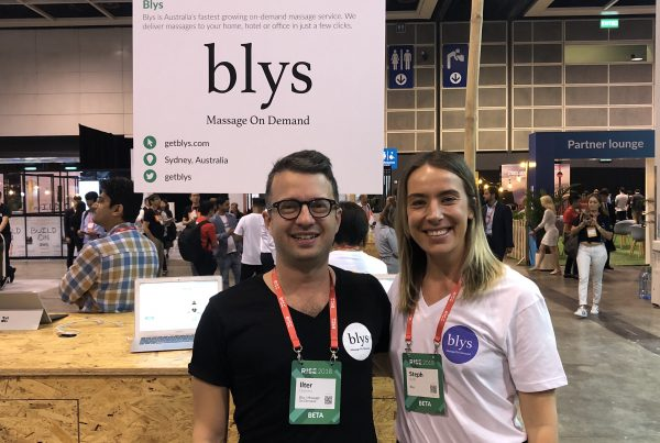 RISE 2018 - Blys massage on-demand exhibit
