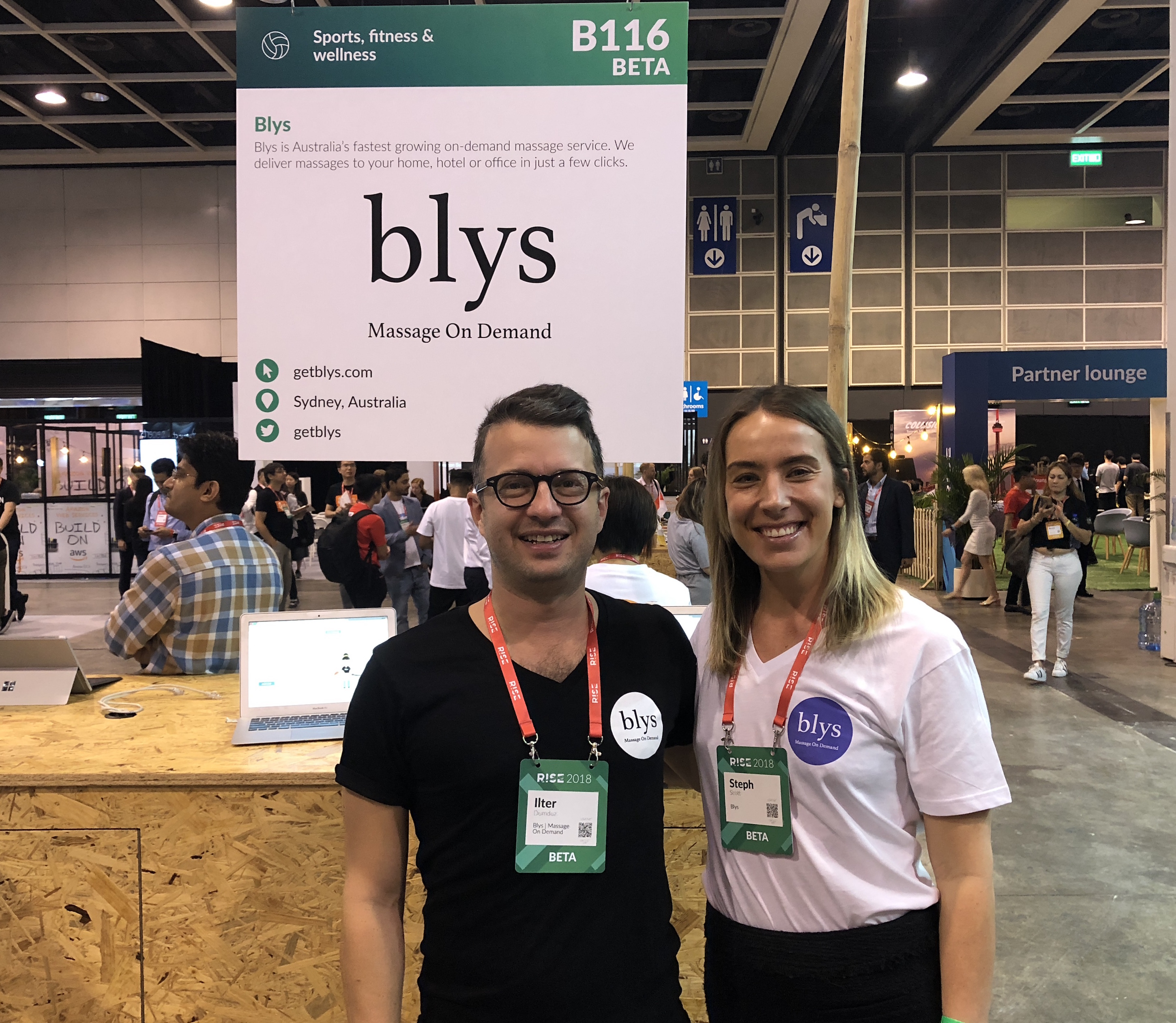 RISE 2018 - Blys massage on-demand exhibit
