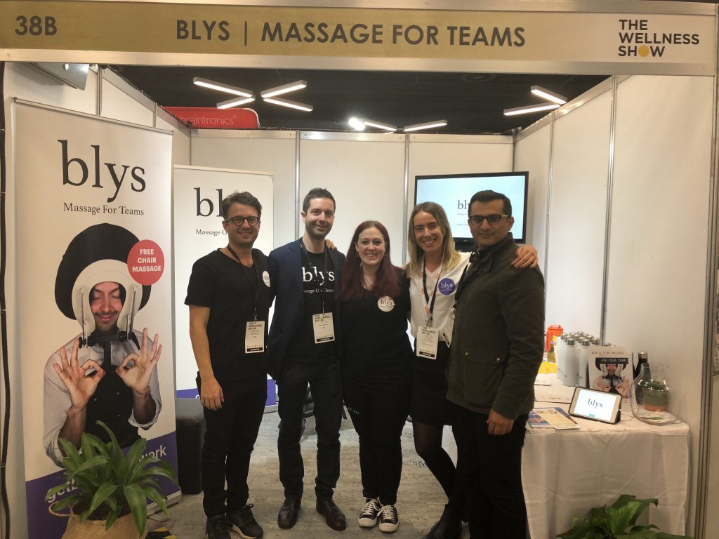 The Blys Team at The Wellness Show Booth