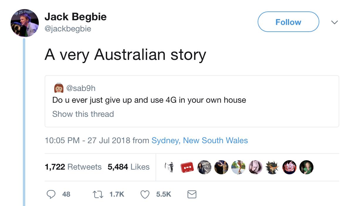 get blys twitter funny meme Australia wifi data